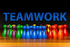 Concept teamwork, organization, group multi color text Stock Image