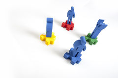 Concept of teamwork, people and icons Royalty Free Stock Images