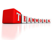 Concept TEAMWORK word blocks raw structure on white background Royalty Free Stock Photos