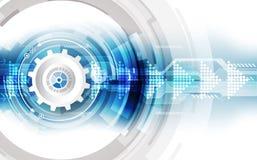 Concept technologique abstrait de fond avec de divers éléments de technologie vecteur d'illustration Photo stock