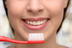 Concept for teeth hygiene Royalty Free Stock Image