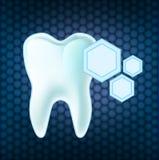 Concept teeth protection. eps 10 vector illustration. Concept teeth protection on the background . eps 10 vector illustration Stock Image