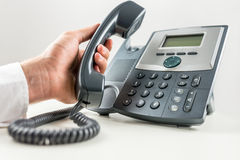 Concept of telemarketing and customer support Royalty Free Stock Images