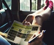 Concept terminal exprès de programme de ligne d'autobus Images stock