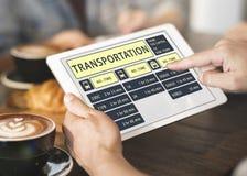 Concept terminal exprès de programme de ligne d'autobus Photos libres de droits