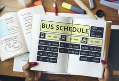 Concept terminal exprès de programme de ligne d'autobus Image libre de droits