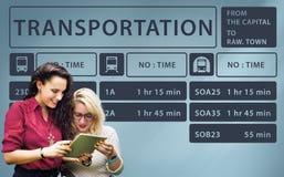 Concept terminal exprès de programme de ligne d'autobus Photographie stock