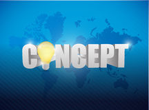 Concept text sign illustration design Royalty Free Stock Photos