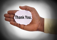 CONCEPT OF THANKS Stock Image