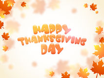 Concept of Thanksgiving Day celebration wtih maple leafs. Royalty Free Stock Image