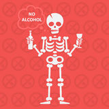 Concept on theme no alcohol Royalty Free Stock Photo