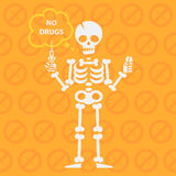 Concept on theme no drugs vector illustration