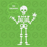 Concept on theme no smoking Royalty Free Stock Images