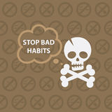 Concept on theme stop bad habits Royalty Free Stock Photos