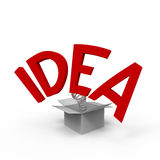 Idea. Concept of think outside the box Royalty Free Illustration