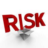 Risk. Concept of think outside the box Stock Images