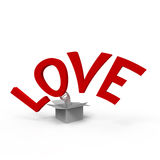 Love. Concept of think outside the box Vector Illustration