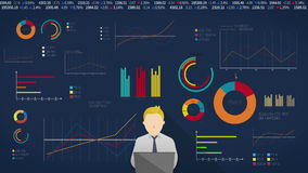 Concept of thinking Man for financial business presentation. powerpoint template(included alpha)