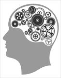 Concept of thinking, mind works, the creation of ideas Royalty Free Stock Images