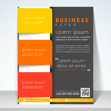 Concept of three fold flyer, brochure or template. Royalty Free Stock Photography
