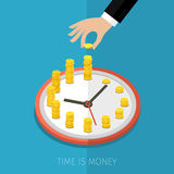 Concept of time management. Time is money, business planning. Vector concept illustration Stock Photo