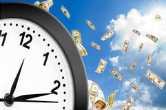 Concept of time is money. Royalty Free Stock Photography