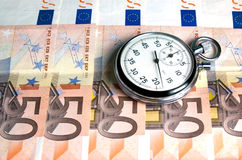 Concept - Time is money. Finance Concept - Time is money Stock Photography