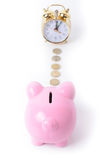 Piggy bank clock Royalty Free Stock Image
