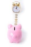Piggy bank clock Royalty Free Stock Image