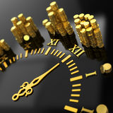 Concept. `Time is money` digitally generated image. 3d Royalty Free Stock Photography