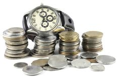 A Concept of Time and Money Royalty Free Stock Image