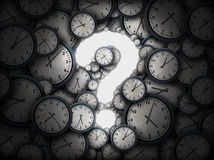 Concept Of Time Question Royalty Free Stock Photo