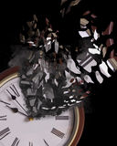 Concept: Time is running out. Concept, time is running out. Metaphor for problems facing the world such as global warming, climate change, food security, and Stock Images