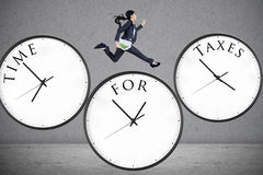 Concept of time for taxes Stock Photo