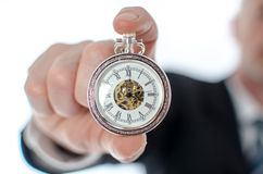 Concept of time at work Stock Image