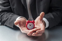 Concept of timing and deadline for managing businesses Royalty Free Stock Images