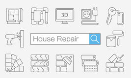 Concept of title site page or banner for home improvement Stock Photo