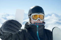 Concept to illustrate ski admission fee Stock Image