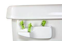 Concept: Toilet germs Stock Photo