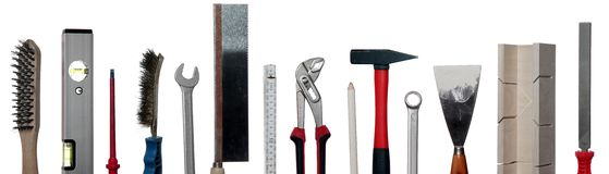 Concept of tools. On white Royalty Free Stock Photos