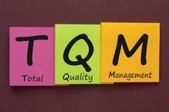Concept total de gestion de la qualité photographie stock