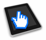 Concept of touch technology Stock Images