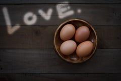 Concept toujours de la vie par des oeufs et l'amour Images libres de droits