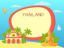 Concept touristique de vecteur de la Thaïlande avec Copyspace Images stock
