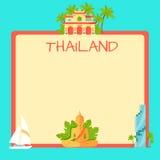 Concept touristique de vecteur de la Thaïlande avec Copyspace Photographie stock libre de droits