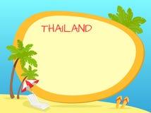 Concept touristique de vecteur de la Thaïlande avec Copyspace Image stock