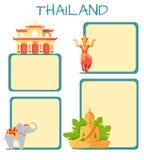 Concept touristique de vecteur de la Thaïlande avec Copyspace Photo stock