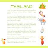 Concept touristique de vecteur de la Thaïlande avec le texte témoin Image libre de droits