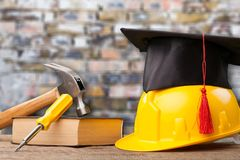 Concept of tradesman building royalty free stock photo