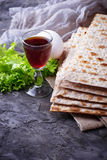 Concept of traditional Jewish celebration Passover seder Royalty Free Stock Photography